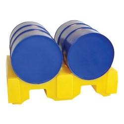 Support de stockage pour 2 fûts de 220 L JONESCO en polyéthylène SJ-200-002...