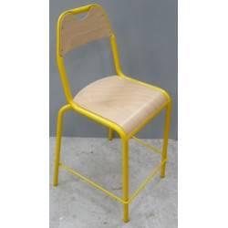 lot de 3 chaises surélevées jaune pour école ou cantine