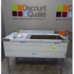 Table de plonge standard  inox 1400 x 900  SUD INOX NEUVE déclassée