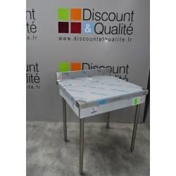 Table standard adossée 800 x 700 mm SUD INOX NEUVE déclassée