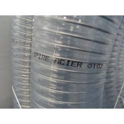 20 m de tuyaux d'aspiration et refoulement multi - usages translucide diamètre 102  mmm TRICOFLEX spire acier NEUF déclassé