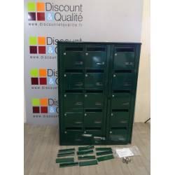 Bloc de 15 boites aux lettres vert collectives extérieur LEABOX neuf déclassé
