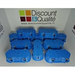 Lot de 10 boîtes d'encastrements doubles SCHNEIDER Mulitfix plus Entraxe 71 mm NEUVES déclassées