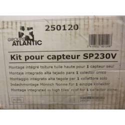 Kit montage intégré toiture tuile haute 1 capteur ATLANTIC SOLAR PLAN NEUF