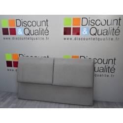 Tête de lit  2 places en tissus  gris clair  164 x 95 cm NEUVE déclassée