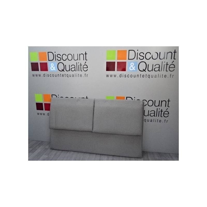 t te de lit 2 places gris clair 164 x 95 cm neuve d class e discount qualit. Black Bedroom Furniture Sets. Home Design Ideas