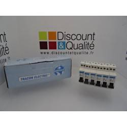 Lot de 6  disjoncteurs 1 pôle 10 A  TRACON ELECTRIC  DPN- C- 16 NEUF