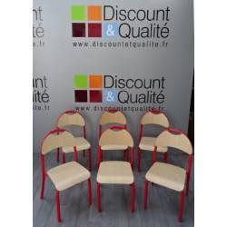 Lot de 6 chaises enfants rouge T1 WESCO NEUVES déclassées