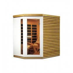 Sauna infrarouge 1 place 130 x 185 cm HOLL'S Alto prestige solo HL-IR6295W NEUF déclassé