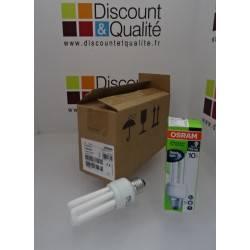 Lot de 10 ampoules fluocompactes 14 W / E27 OSRAM DULUX PRO STICK  NEUVE