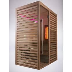 Sauna infrarouge 2 places Sahara Combi NEUF déclassé POUR BRICOLEUR