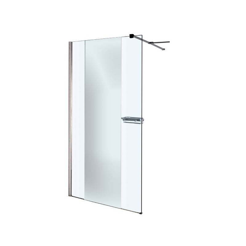 paroi de douche fixe transparente avec miroir profil 200 x 100 cm alterna reflet neuve d class e. Black Bedroom Furniture Sets. Home Design Ideas