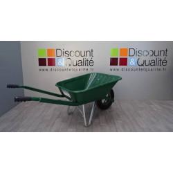 Brouette  peinte verte  roue gonflée 90 L HAEMMERLIN Bâti  NEUVE déclassée