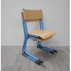 Lot de 2 chaises métalliques appui sur table T3 bleues WESCO NEUF déclassé