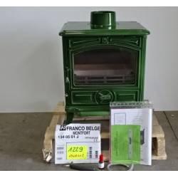 Poele a bois 5 kW buches 30 cm vert FRANCO BELGE Montfort 1340501J NEUF