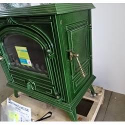 Poele a bois 10 kw buches 45 cm maill vert franco belge bearn 1341015j neuf - Chambre de commerce franco belge ...