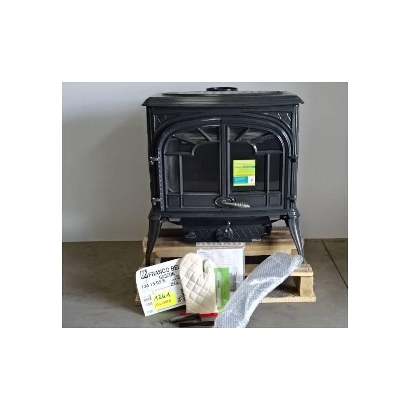 poele a bois 15 kw buches 55 cm 2 portes maill gris. Black Bedroom Furniture Sets. Home Design Ideas