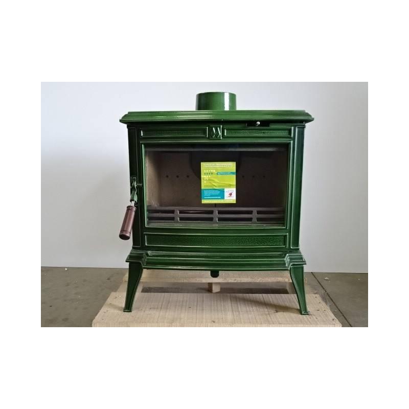 Poele a bois 8 5 kw buches 40 cm maill vert franco belge monaco 1340602j neuf - Chambre de commerce franco belge ...