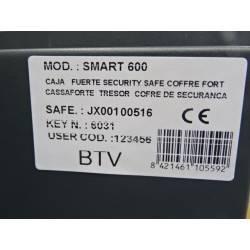 Coffre fort électronique 67 L  avec serrure à clé  et éclairage intérieur 61 x 35.5  cm BTV SMART 600 NEUF