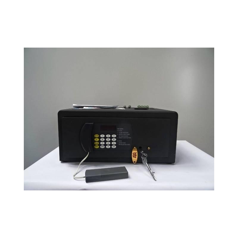 Coffre fort électronique avec serrure à clé à poser  20 x 35.5  cm BTV LASER L 15  NEUF