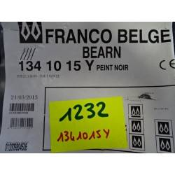 Poele a bois 10 kW buches 45 cm noir FRANCO BELGE Bearn 1341015Y NEUF