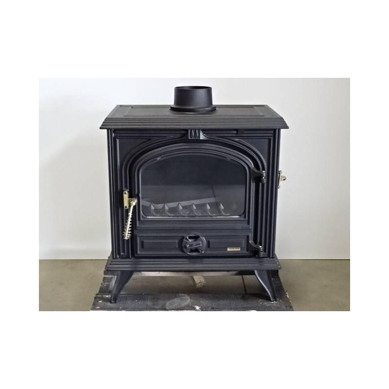 poele a bois 10 kw buches 45 cm noir franco belge bearn. Black Bedroom Furniture Sets. Home Design Ideas