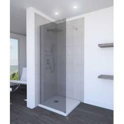 Paroi de douche fixe verre sombre 200 x 90 cm AURLANE dark parma 90 NEUVE déclassée