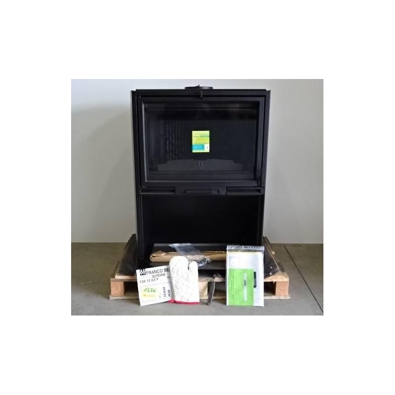 poele a bois 10 kw buches 60 cm noir franco belge guyenne. Black Bedroom Furniture Sets. Home Design Ideas