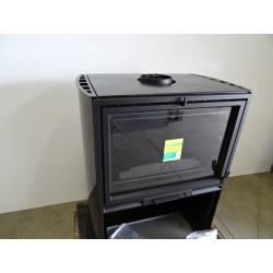 poele a bois 10 kw buches 60 cm noir franco belge guyenne 1341203y neuf. Black Bedroom Furniture Sets. Home Design Ideas