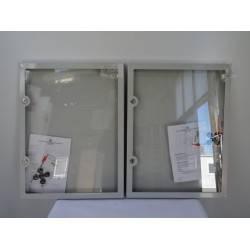 Lot de 2 panneaux d'affichage avec porte format 4A4 RENZ NEUFS Déclassés