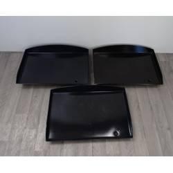 Lot de 3 plaques de cuisson en acier émaillé d'OCCASION pour ROLLER GRILL