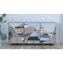 Canapé 2 places  en tissu gris  MOSS Valberg 3D hexagone  NEUF déclassé