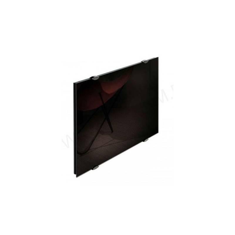 Façade en  verre noire astrakan  équipée 550 W  avec film pour radiateur  horizontal  CAMPA Campaver  NEUVE