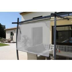 Rideau brise soleil en toile textilène avec enrouleur automatique 120 x 160 cm COULEUR DU MONDE NEUF déclassé