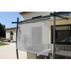 Rideau brise soleil en toile grise textilène 170 x 160 cm COULEUR DU MONDE bso2 NEUF déclassé