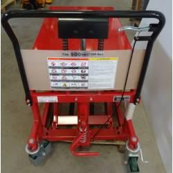 Transpalette Table élévatrice manuel charge 500 kg fourche L1080 mm BISHAMON...