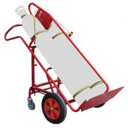 Diable porte bouteille FIMM force 250kg pour chantier roues pneumatiques -...