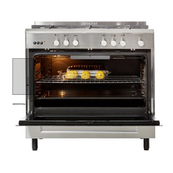 piano de cuisson gaz 5 feux pose libre en inox glem ge960 cvix neuf d class. Black Bedroom Furniture Sets. Home Design Ideas