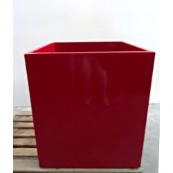 Tour d'arbre / pot de fleur rouge laqué 70 x 70 cm NEUF déclassé