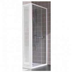 Paroi de douche fixe profilés blanc  verre transparent 190 x 80 cm LEDA Atout...