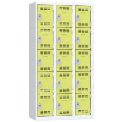 Vestiaire 3 colonnes de 5 cases VINCO A276502 NEUF déclassé