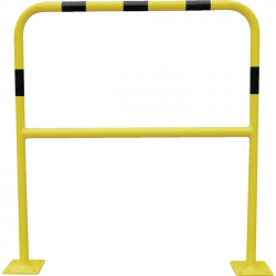 Barrière de protection acier avec platine diamètre 40 mm 1500 x 1000 mm VISO...