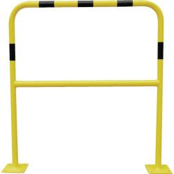 Barrière de protection acier avec platine diamètre 40 mm 2000 x 1000 mm VISO...