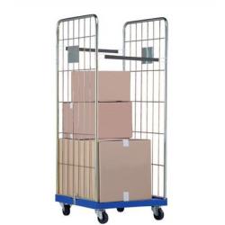 Roll - conteneur base plastique hauteur 1500 mm - Force 500 kg  A032159 NEUF...