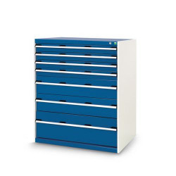 Armoire d'atelier 8 tiroirs charge maxi 1500 kg largeur 105 cm BOTT A032957...