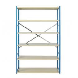 Rayonnage / étagère en acier 2 échelles 6 étagères  COMBI - MAG A007517 NEUF...