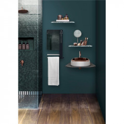 Radiateur sèche - serviettes soufflant électrique avec 2 barres  et miroir...