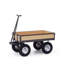 Chariot Remorque plateau parois bois force 750 kg A019677 NEUF déclassé