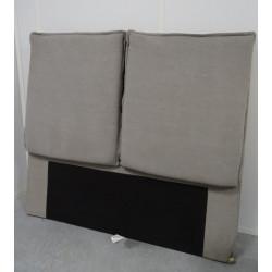 Tête de lit en tissus gris clair avec coussins 145 x 158 cm NEUVE déclassée