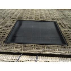 Salon de jardin en résine tressée avec panneau photovoltaique et prises USB  COULEURS DU MONDE cap est NEUF déclassé